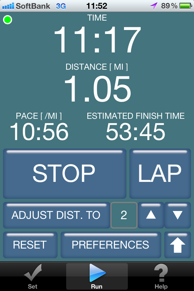Run Page (iPhone)